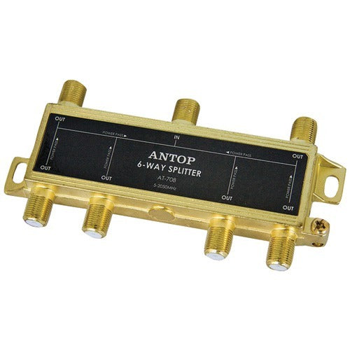 Antop Antenna Inc 6-way 2ghz Low-loss Coaxial Splitter (pack of 1 Ea)