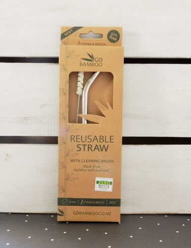 Go Bamboo Reusable Straw With Cleaning Brush
