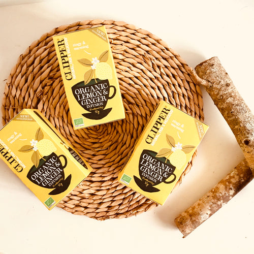 Clipper Tea Organic Lemon & Ginger Infusion 20 bags