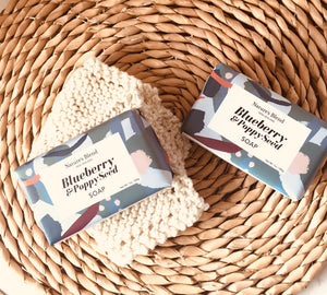 Natures Blend Soap Bar Blueberry and Poppy Seed - 200g
