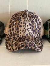 Load image into Gallery viewer, CC Leopard criss cross ball cap