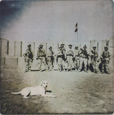 Marines with dog, 2011