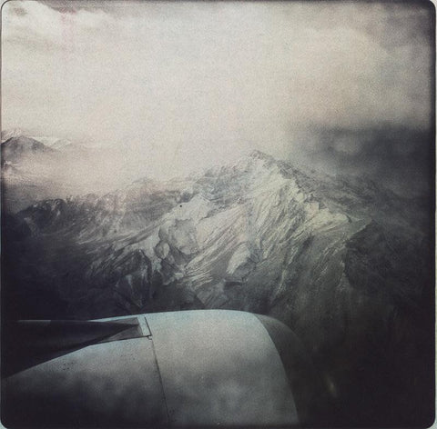 View of Himalaya mountain range from airplane, 2011