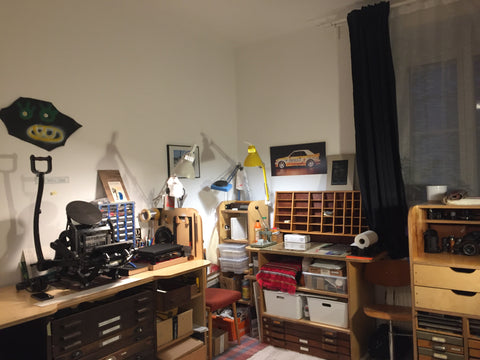 Deanna Pizzitelli's home studio set-up