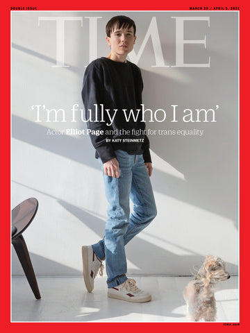 Elliot Page portrait by Wynne Neilly on the cover of TIME