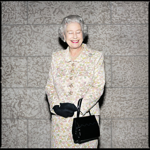 Queen Elizabeth II with eyes closed