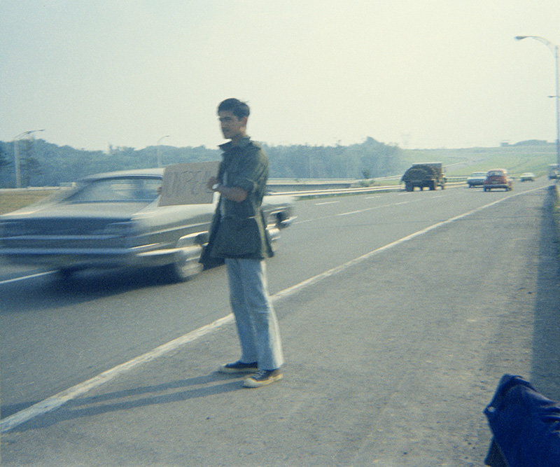 FFOTO-Sunil Gupta-Hitch-hiking back to Montreal, Canadian Forces Base Valcartier