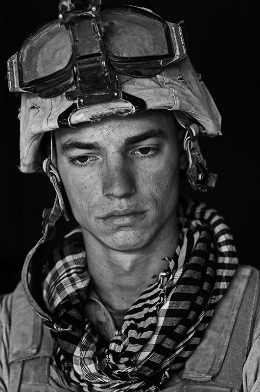 U.S. Marine Lance Cpl. Marine Joshua Wycka age 21, Garmsir District, Helmand Province, Afghanistan, Forward Operating Base Apache North. Joshua is from Plant City, Florida and has done a tour in Iraq in addition to this tour. - Louie Palu | FFOTO