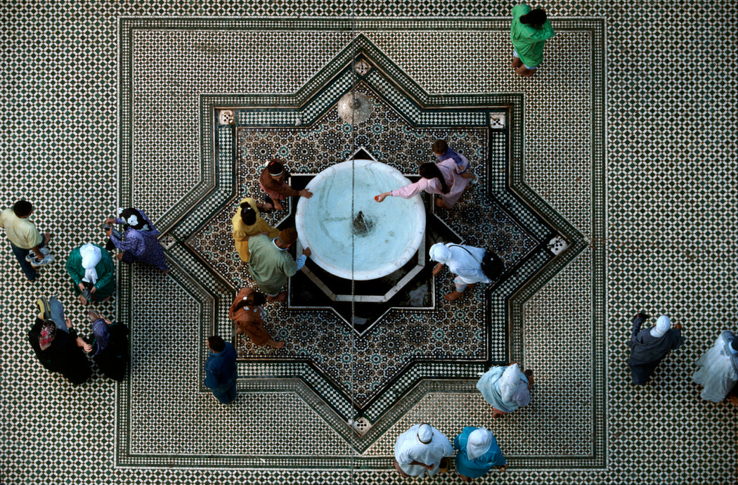 FFOTO-Bruno Barbey-Courtyard of Moulay Idriss' Zaouia, Fes, Morocco