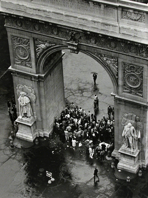 Washington Square [crowd under arch], October 10, 1965