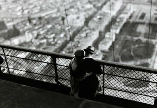 At the Top of the Eiffel Tower, Paris, 1929