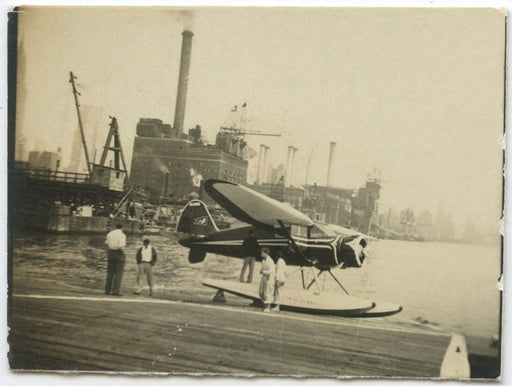 Untitled (Airplane on Dock)