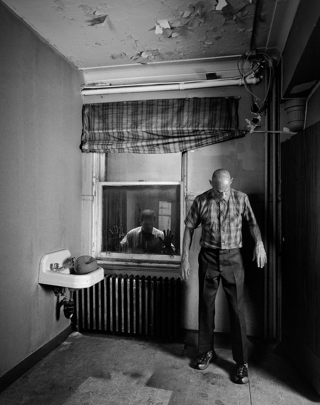 Man in a Room with Witness