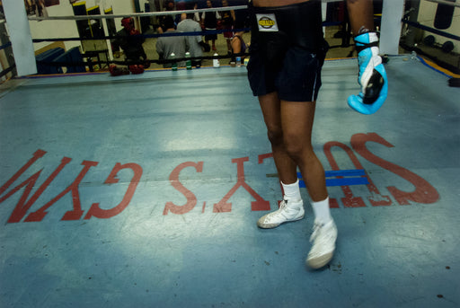 "Sully's Gym, Toronto, Ontario, [""Sully's Gym"" floor, with boxer's legs]"