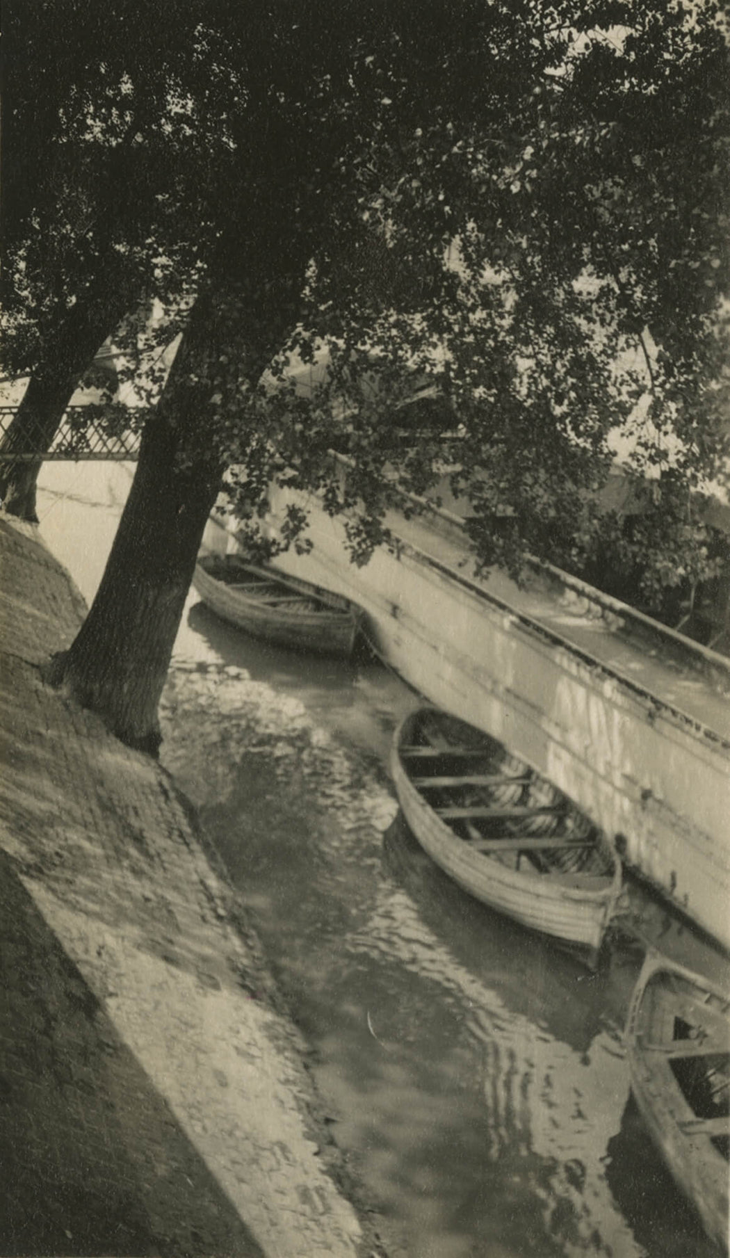 Untitled [Boats on the Seine], Paris