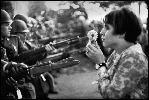 Young Girl Holding a Flower, Demonstration Against the War in Vietnam, Washington D.C.