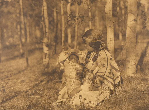 FFOTO-Edward Sheriff Curtis-Assiniboin Mother and Child