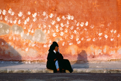 FFOTO-Bruno Barbey-Along the battlements, Essaouira, Morocco