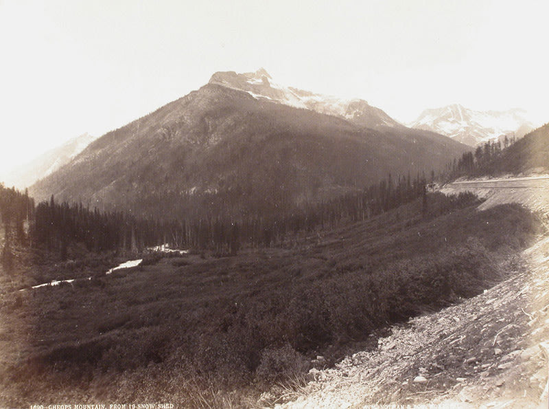 #1690 Cheops Mountain, From 19 Snow Shed, Glacier Park, BC - William Notman Studios | FFOTO