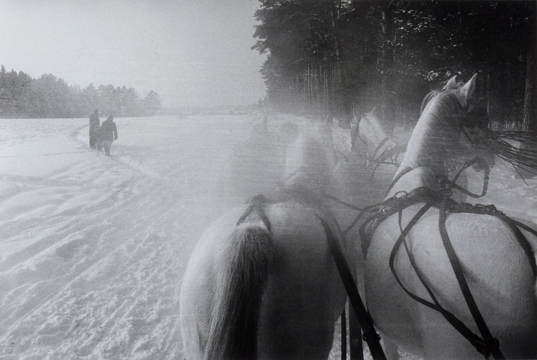 FFOTO-Inge Morath-Five horse sleigh on a stud farm 40 miles west of Moscow (Schlitten, Russland)