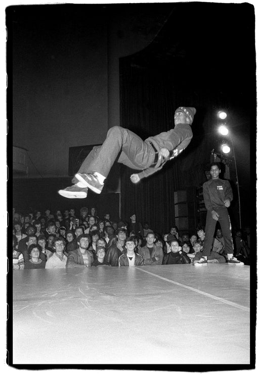 (Temporarily unavailable) Break Dancer 01 - Frosty Freeze Break Dancer from Rock Steady Crew at The Venue, London, UK, 23 November, 1982,