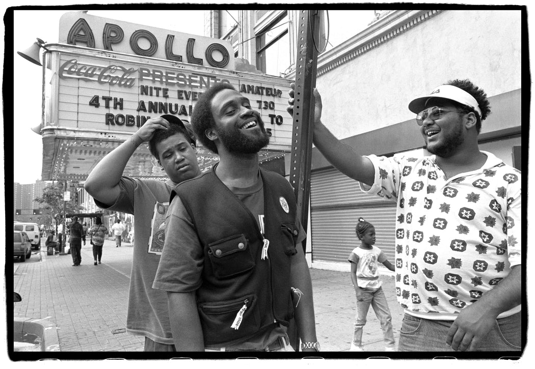 De La Soul outside The Apollo Theater, W125th St, NYC on 12 September, 1993,
