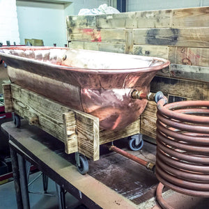 Copper hot tub