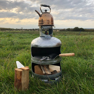 Gas bottle pizza oven