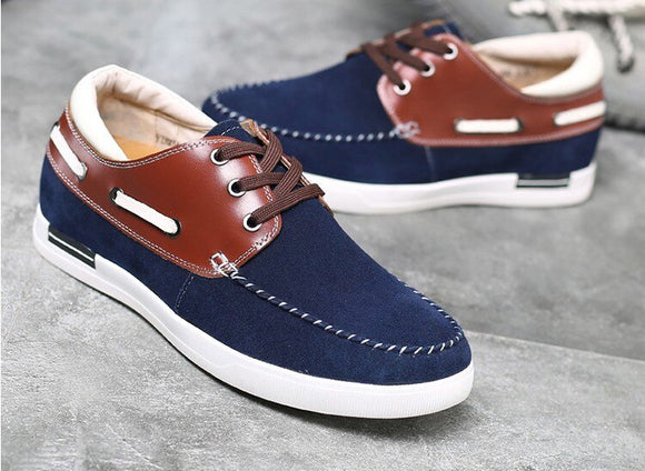 Men's calf leather casual shoes