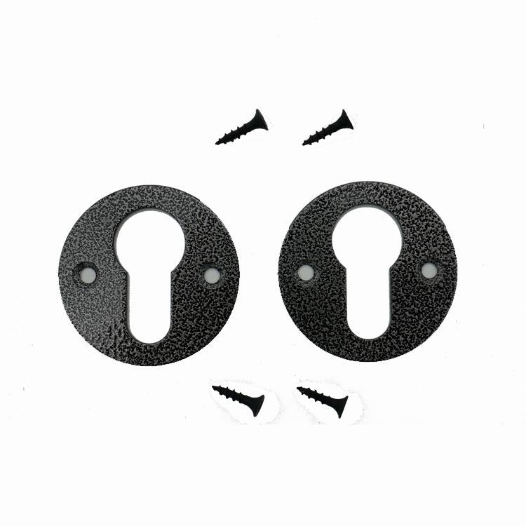 Black Cylinder Escution Plates (Pair) - BAAVESC
