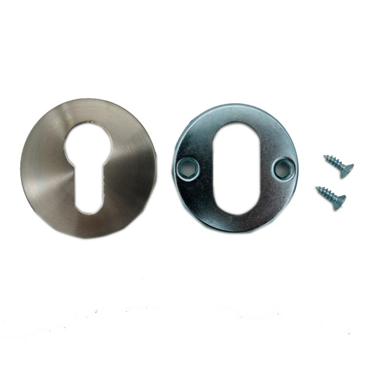 Round Double Cylinder Escutcheon Plate (Pair)