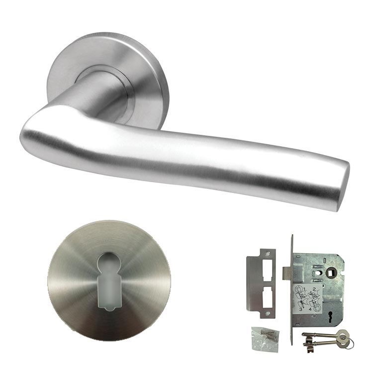Solid Stainless Steel Door Lever Handle - BHARIEL