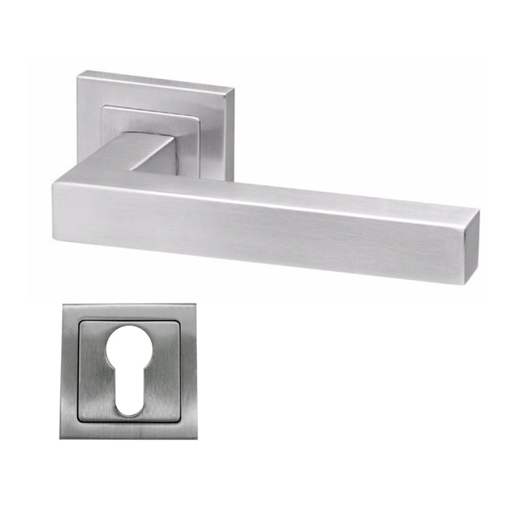 Square Stainless Steel Lever Handle Mortice - BHDALA