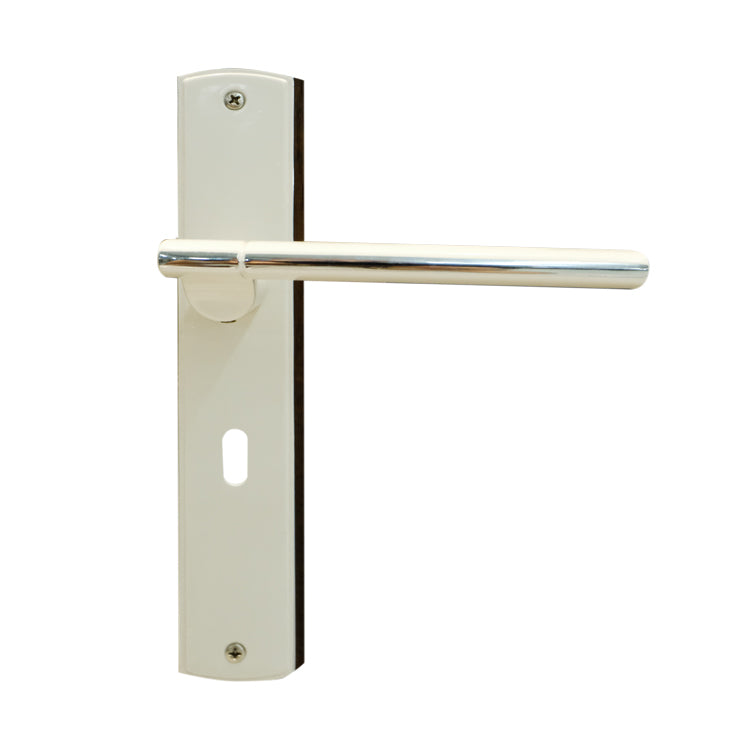 White Door Lever Handle Mortice - BHDONATELLO