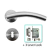 Stainless Steel Mortice Door Lever Handle - BHEB1403