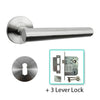 Stainless Steel Mortice Door Lever Handle - BHEB1406