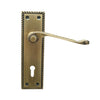 Antique Brass Door Lever Handle (Keyhole) - BHGAIL
