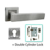 Square Stainless Steel Door Lever Handle - BHLATHISQUARE