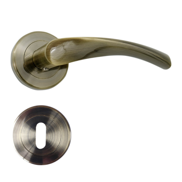 Antique - YALE Brass Door Lever Handle Mortice - BHMILANO