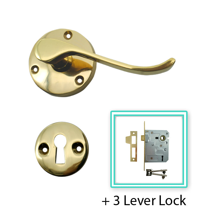 Stainless Steel PVD Brass Colour Lever Handle -BHMUP157V