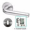 Tube Stainless Steel Handle Mortice Door Lever Handle - BHOSLO