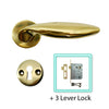 Stainless Steel PVD Brass Door Lever Handle (Keyhole) - BHQPVD BORAS KH