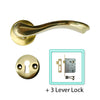 Stainless Steel PVD Brass Door Lever Handle (Keyhole) - BHQPVD SALO KH