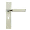 White Door Lever Handle Mortice - BHRENOIR