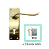Brass  Door Lever Handle (Keyhole) - BHV31