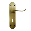 Antique Brass Door Lever Handle (Keyhole) - BHV6