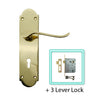 Brass Door Lever Handle (Keyhole) - BHV6