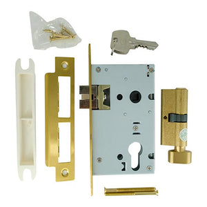 Chrome Thumb Turn Cylinder Lock
