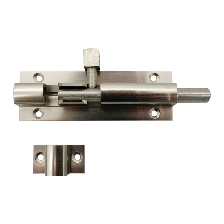 Heavy Duty Satin Chrome Barrel Door Bolt 100mm