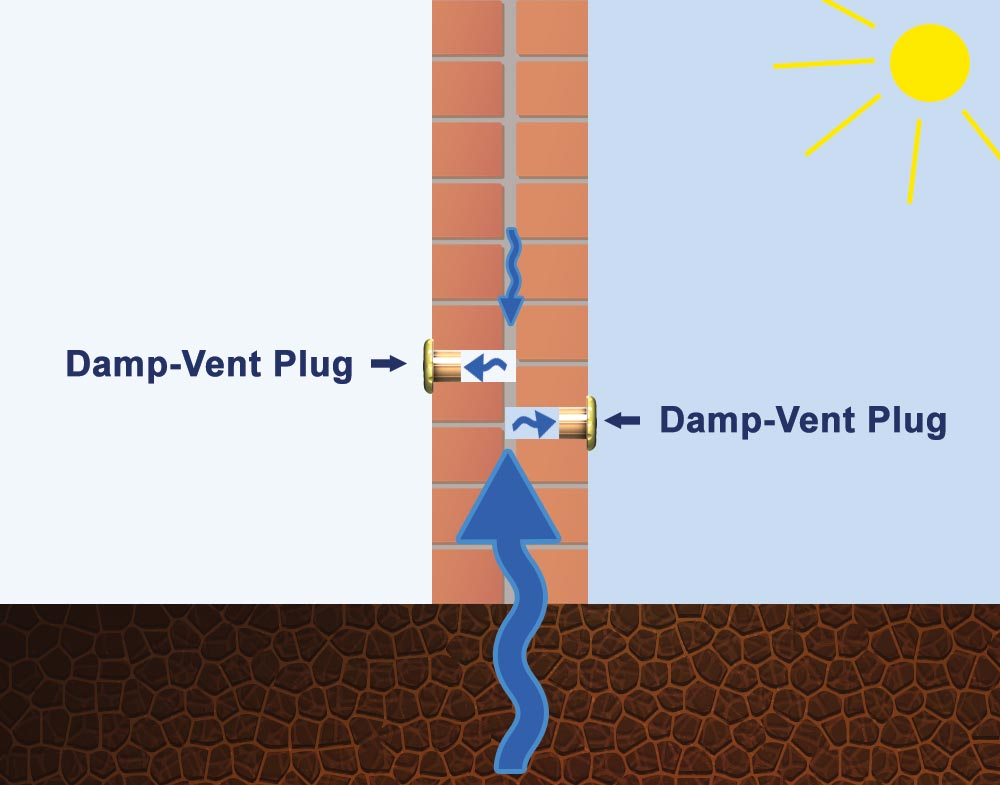Damp-Vent Damp Prevention Ventilation Plugs (6-pack)
